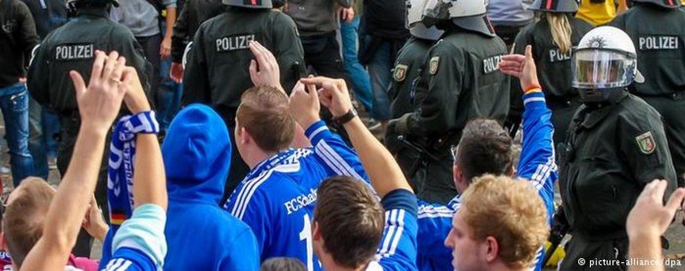 """Фани суперника """"Шахтаря"""" у Лізі Європи побили німецьких поліцейських"""