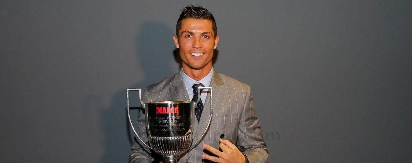 Роналду отримав нагороду найкращому бомбардиру за минулий сезон
