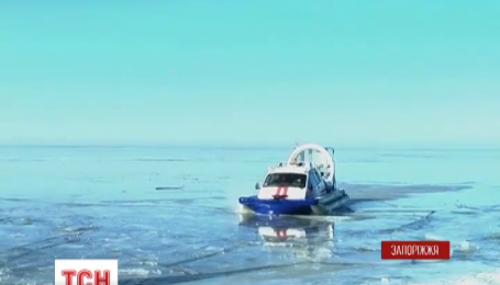 Кілька десятків рибалок зняли з криги на Каховському водосховищі