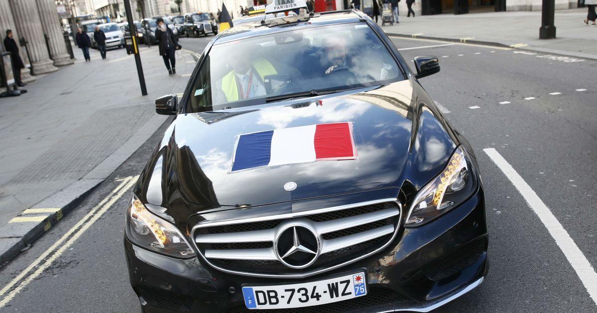 Французькі таксисти приєдналися до акції протесту в Лондоні.