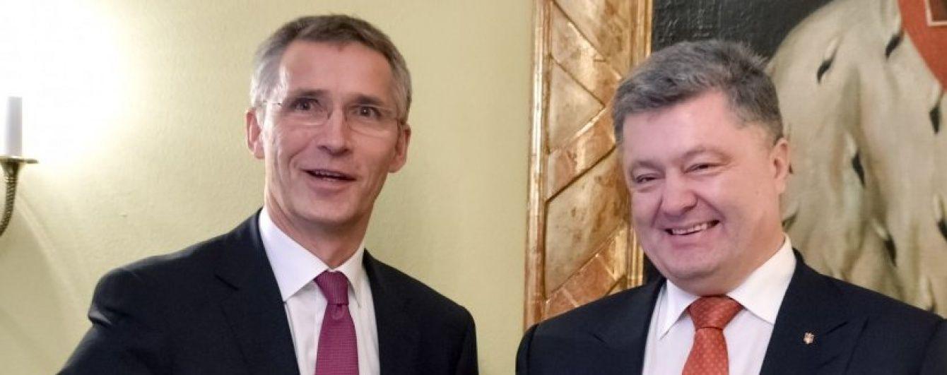 Порошенко і Столтенберг обговорили, як Україна може посилити співпрацю з НАТО