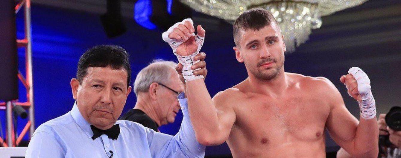 Український боксер Гвоздик здобув блискавичну перемогу в дев'ятому бою на профі-рингу