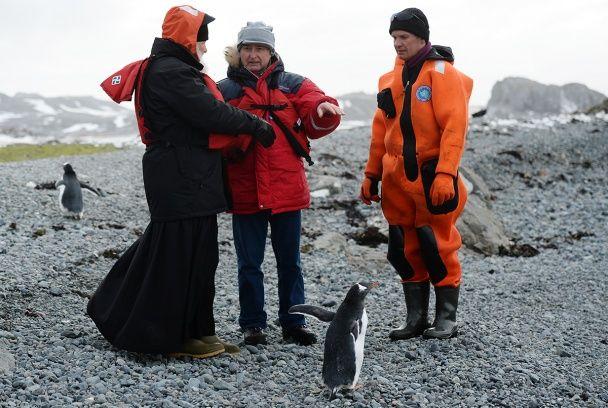 Патріарх Кирило із пінгвінами помолився в Антарктиді
