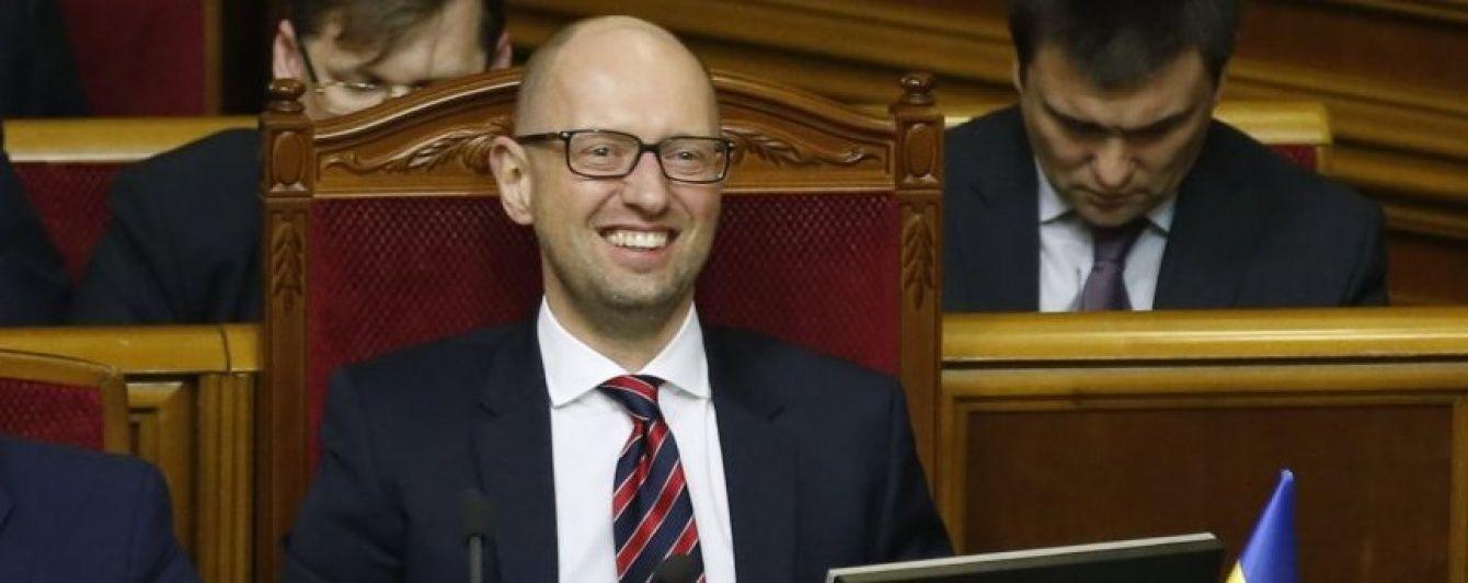 Яценюк у зверненні до президента і коаліції заявив, що він легітимний
