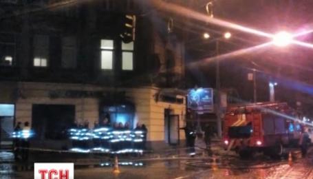 Во Львове прошлой ночью горели российские банки