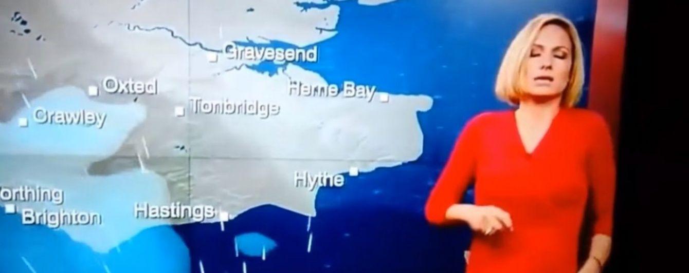 Британська ведуча погоди раптово знепритомніла в прямому ефірі