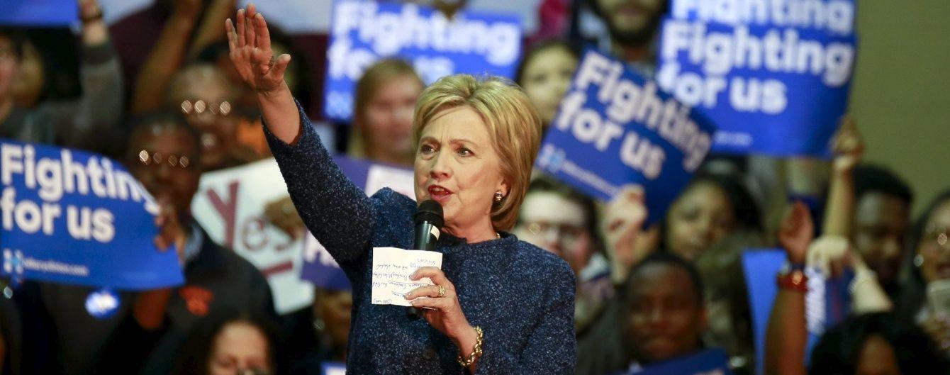 Третя перемога поспіль. Клінтон обійшла Сандерса на праймеріз у Південній Кароліні