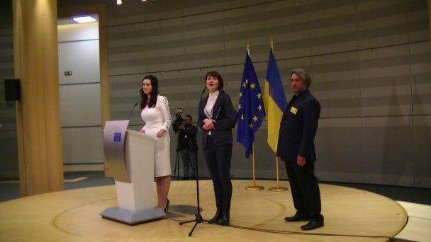 """Вітвіцька та Мордерер презентували проект """"Переможці"""" у Європарламенті"""