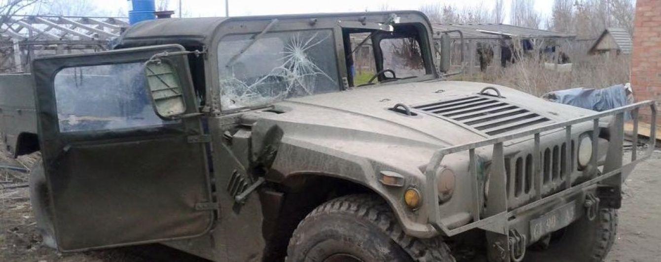 В МВД обнародовали фото обстрелянного на Луганщине Hammer мобильной группы АТО