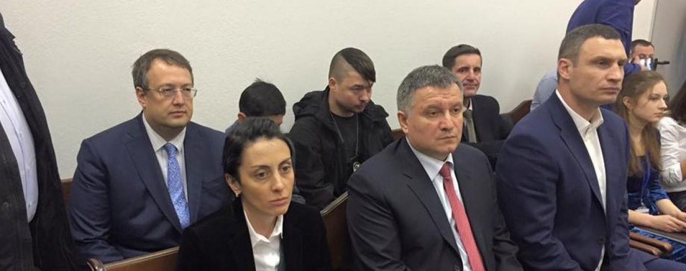"""До суду на розгляд апеляції патрульного Олійника прибув високопоставлений """"десант"""""""