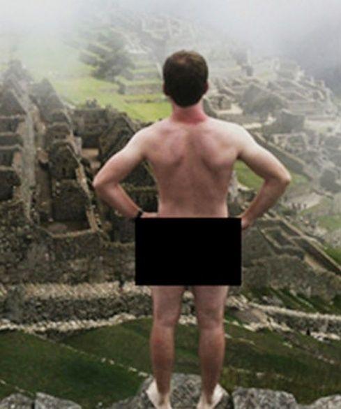 голий турист в Мачу-Пікча