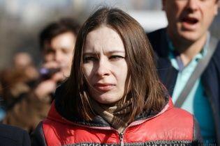 """На акцию поддержки Савченко пришла только что освобожденная заложница """"ЛНР"""" Варфоломеева"""