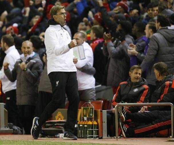 """10 """"відтінків"""" Клоппа: як тренер """"Ліверпуля"""" реагував на гру команди у матчі з МЮ"""