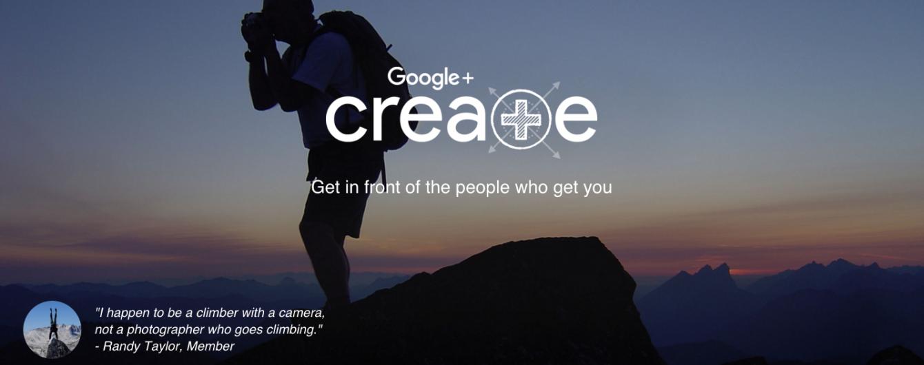 Сrea+e: Google створив нову соціальну мережу для обміну фотографіями