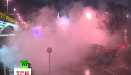 Поблизу Кремля прорвало трубу з гарячою водою