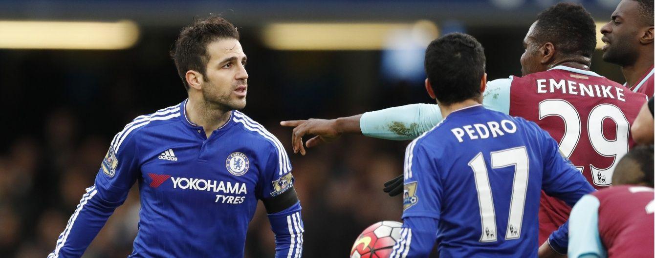 """Фабрегас врятував для """"Челсі"""" нічию проти """"Вест Хема"""" у черговому турі чемпіонату Англії"""
