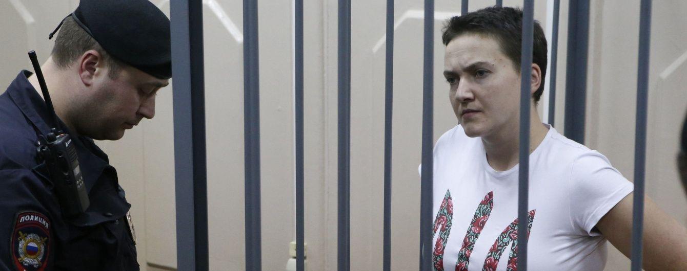 Савченко можуть літаком транспортувати в Москву через погіршення її стану