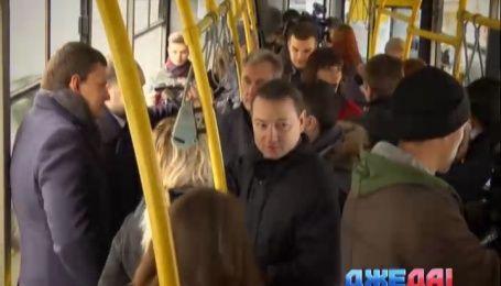 Как столичные чиновники доехали из центра Киева на Троещину всего за час