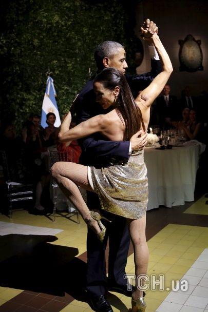 Обама станцював пристрасне танго в Аргентині