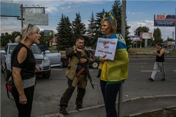 Побиття волонтерки в Донецьку 2014 Ірина Довгань
