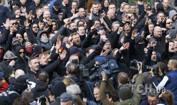 У Брюсселі поліція жорстко розігнала мітинг ультраправих проти тероризму