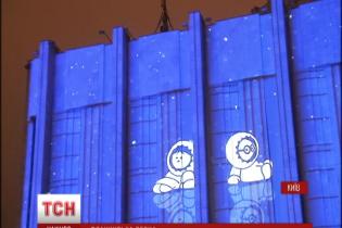 """Ефектним світловим 3D-шоу в Києві стартувала """"Французька весна"""""""