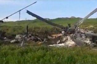 У Мережі з'явилося відео збитого азербайджанського вертольота