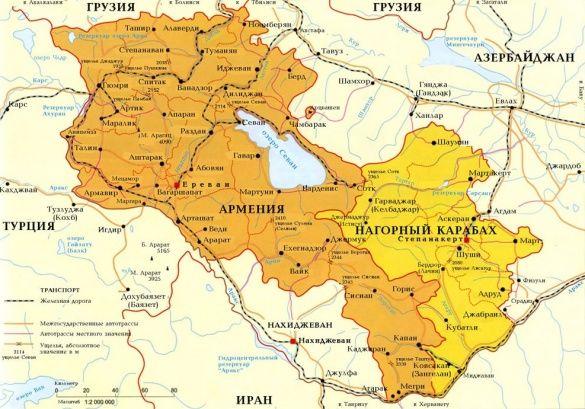 Вірна карта Нагорного Карабаху