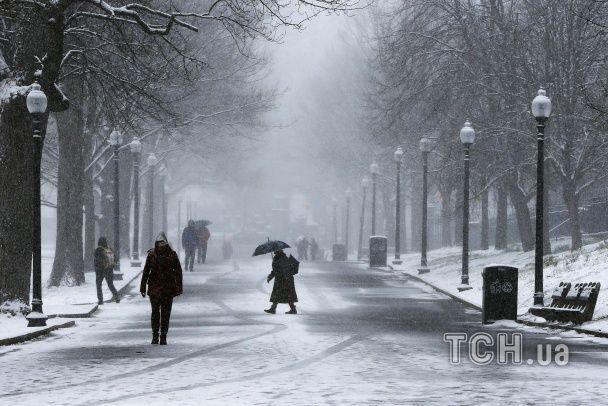 Сніг у квітні. Заметіль накрила Бостон та Нью-Йорк