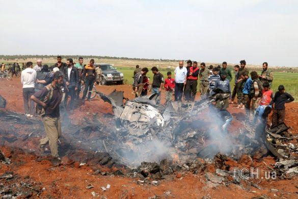 Збитий літак у Сирії, провінція Алеппо