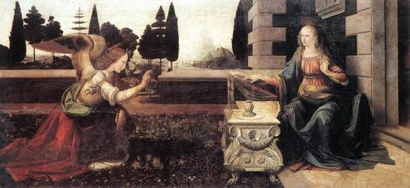 Благовіщення, Леонардо да Вінчі