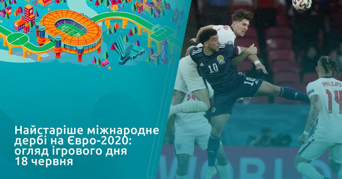 Найстаріше міжнародне дербі на Євро-2020: огляд ігрового дня 18 червня