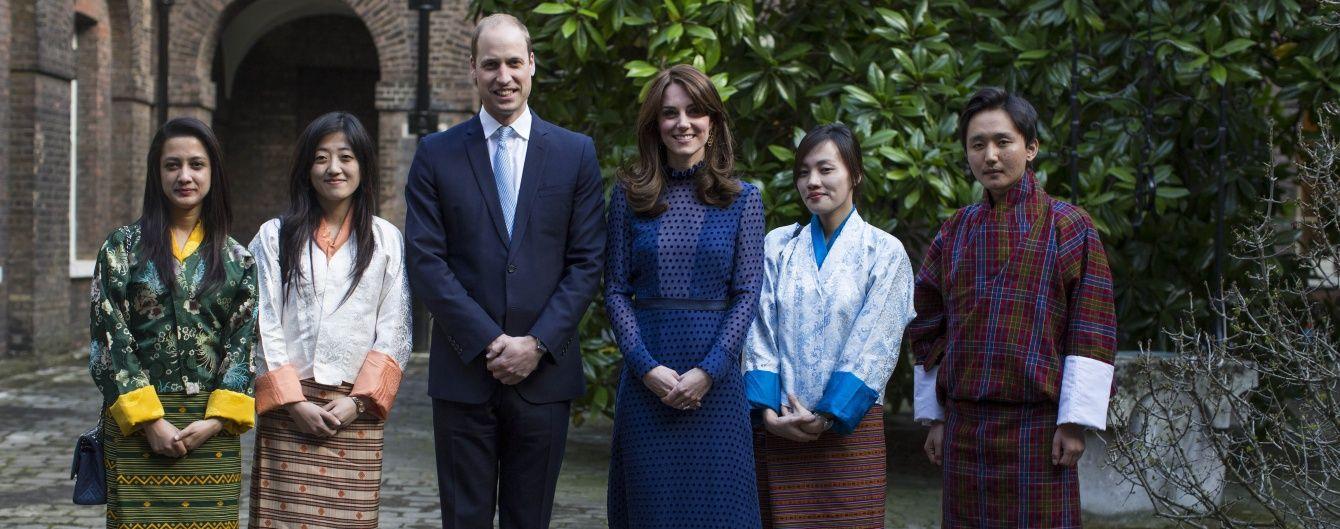 Герцогиня Кембриджская и принц Уильям организовали прием для студентов из Индии и Бутана
