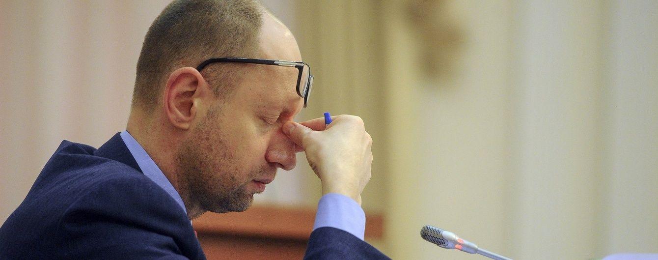 ГПУ розслідує кримінальну справу за фактом отримання великого хабара Яценюком