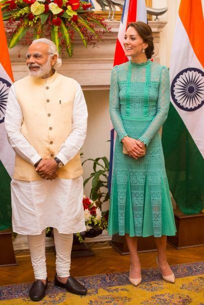 Тур по Индии: самые яркие выходы герцогини Кембриджской