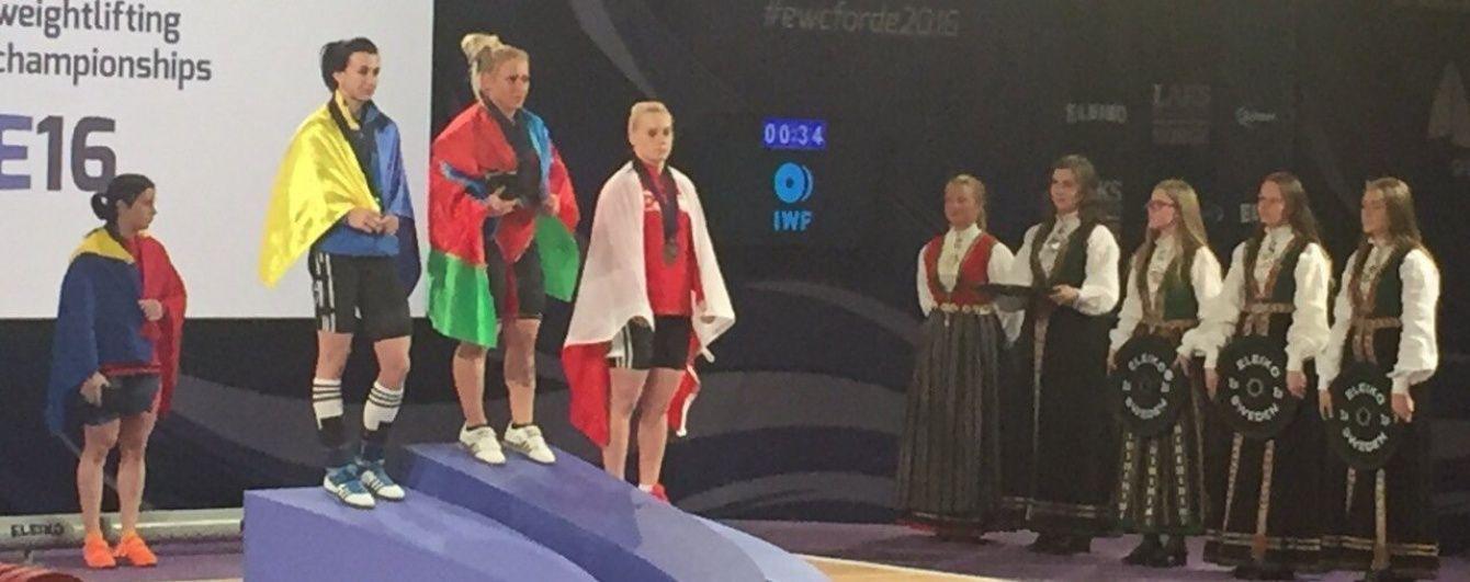 """Українська важкоатлетка здобула """"срібло"""" чемпіонату Європи"""
