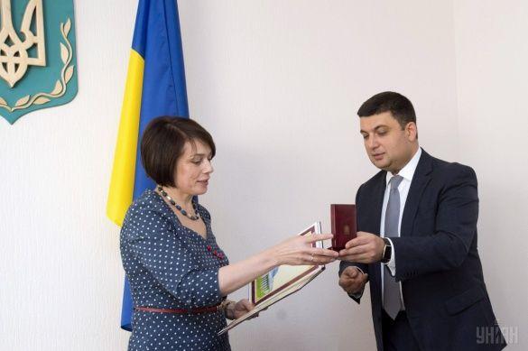Володимир Гройсман та Лілія Гриневич