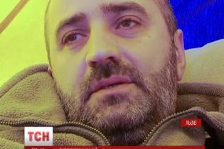 У центрі Львова волонтер оголосив голодування на підтримку Савченко