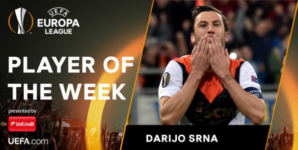 Даріо Срна, гравець тижня Ліга Європи