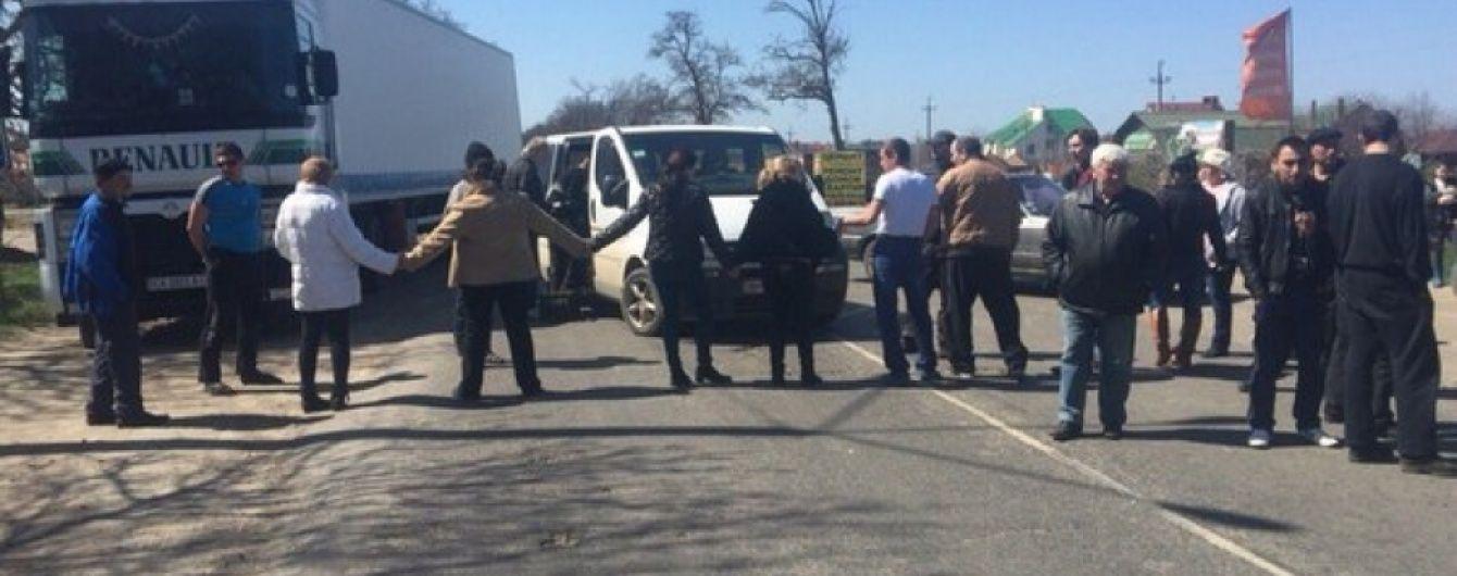 На Полтавщині протестувальники перекрили харківську трасу через будівництво пестицидного заводу