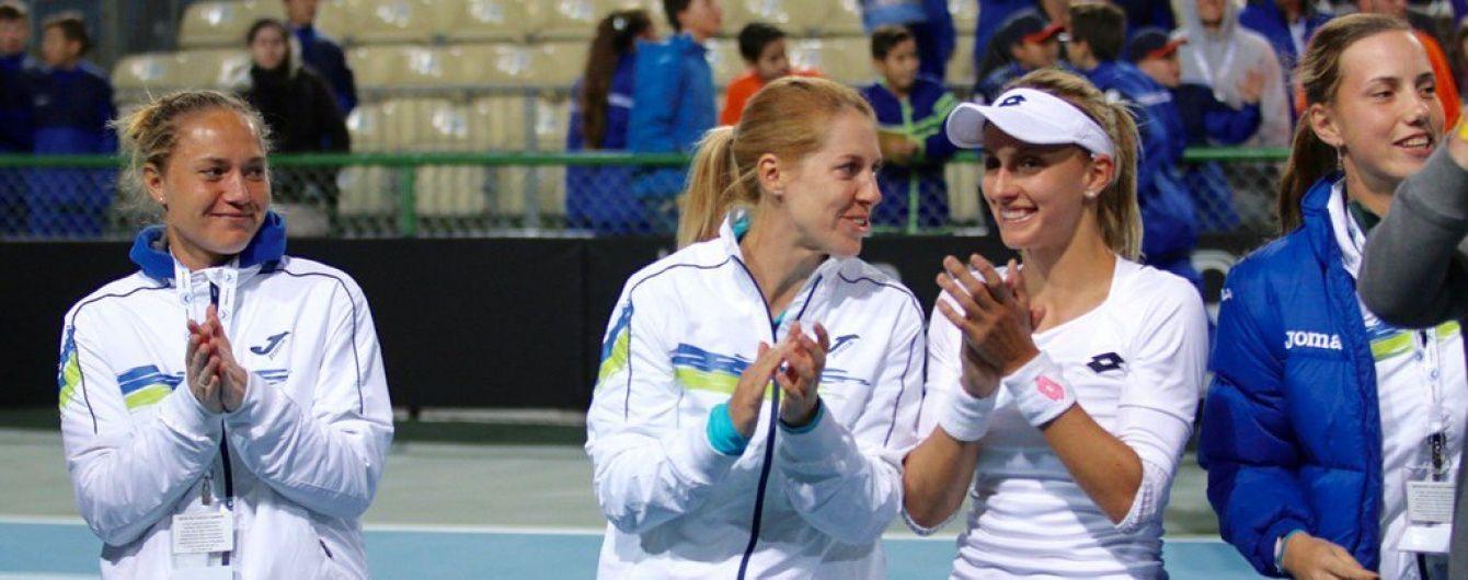 Українські тенісистки обіграли Аргентину і вийшли у другу світову групу