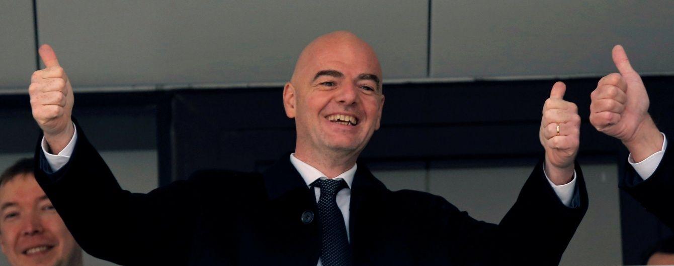 Президент ФІФА Інфантіно зізнався в любові до Росії