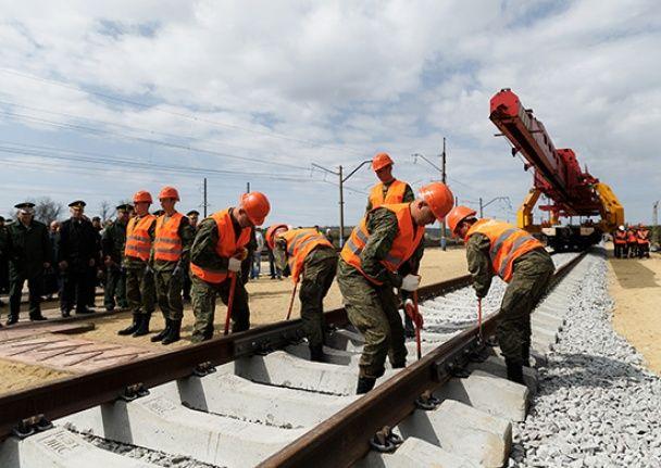 У Росії розповіли, коли завершать будівництво залізничної дороги в обхід України