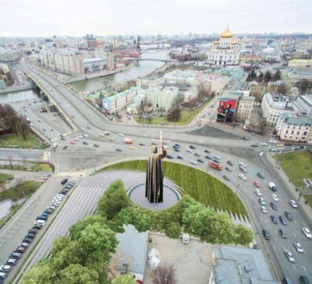 В РФ показали проект пам'ятника київському князю Володимиру в Москві: монументальний і монструозний