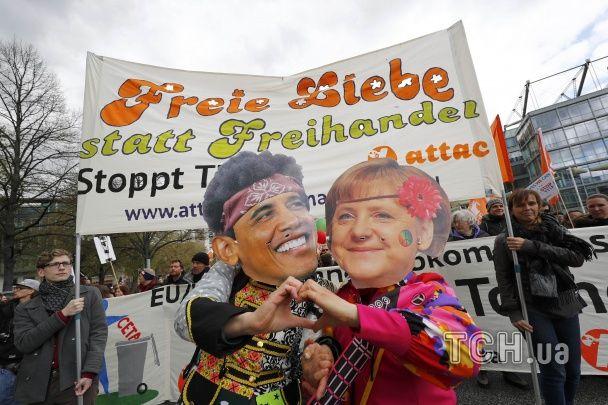 Німецьке місто сколихнула 50-тисячна акція протесту перед візитом Обами