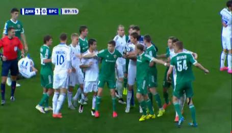 Динамо - Ворскла - 1:0. Видео столкновения Ярмоленко и Даллку