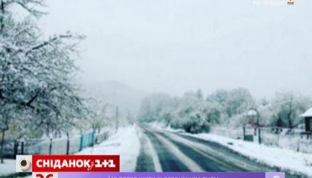Актуальний інтернет: захід України накрило снігопадами