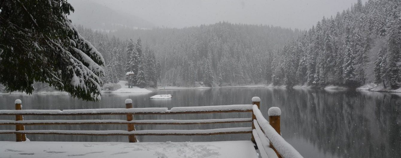 У Карпатах випало 10-20 сантиметрів снігу