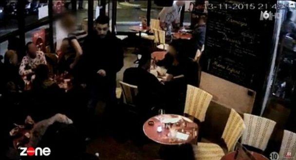 Опубліковані кадри підриву паризького смертника у ресторані