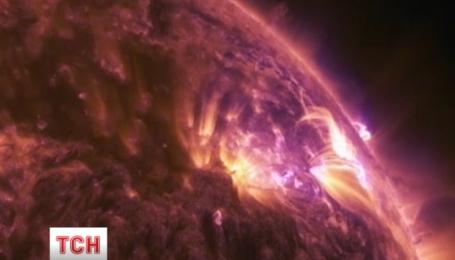 Детальное видео вспышки на солнце обнародовало НАСА